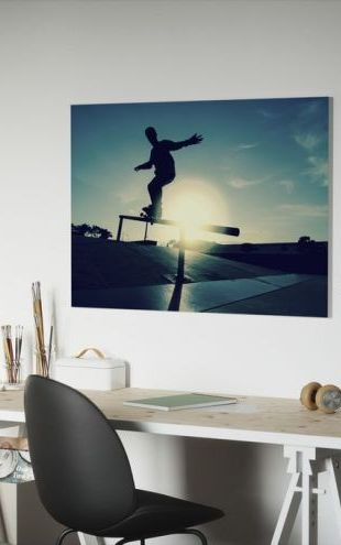 【Canvas Print】PHOTOWALL / Skateboarder on a Grind (e23214)