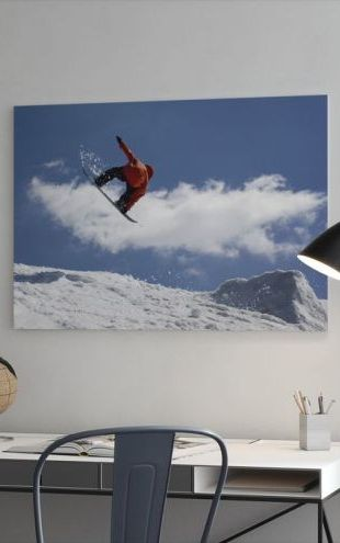 【Canvas Print】PHOTOWALL / Snowboard Jump from Ramp (e23217)
