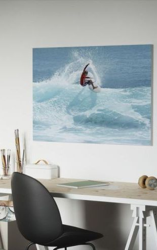 【Canvas Print】PHOTOWALL / Surfer Carving Top of Wave (e23246)