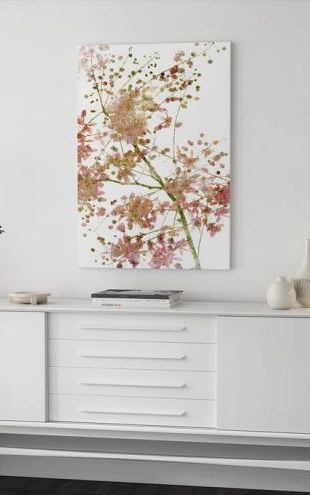 【Canvas Print】PHOTOWALL / Pink Flower Blossom (e40104)