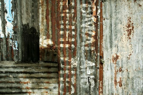 【Canvas Print】PHOTOWALL / Corrugated Iron Sheeting (e40189)