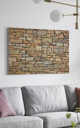 【Canvas Print】PHOTOWALL / Melange Stone Wall (e40145)