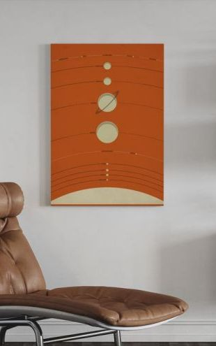 【Canvas Print】PHOTOWALL / Solar System - Orange (e23911)