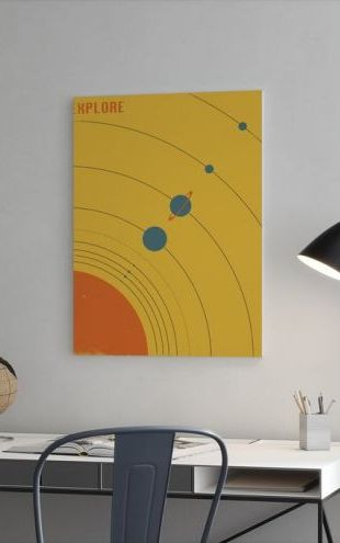 【Canvas Print】PHOTOWALL / Solar System - Explore (e23912)