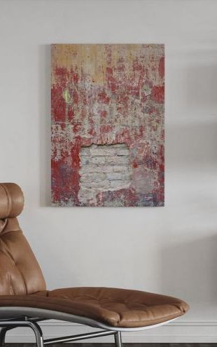 【Canvas Print】PHOTOWALL / Reddish Old Cement Wall (e23947)
