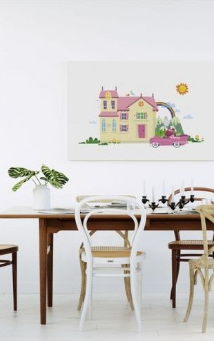【Canvas Print】PHOTOWALL / Betsys Home Sweet Home (e24110)