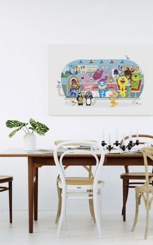 【Canvas Print】PHOTOWALL / Fun-loving Betsys Hippo Hop Diner (e24114)