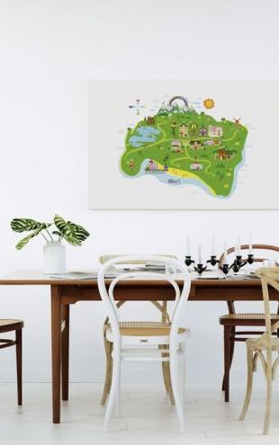 【Canvas Print】PHOTOWALL / Marsh Mellow Island Map (e24116)