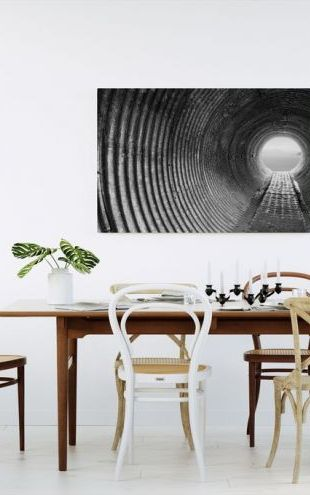 【Canvas Print】PHOTOWALL / Corrugated Tunnel (e24273)