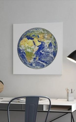 【Canvas Print】PHOTOWALL / Earth with African and Asian Continent (e24427)