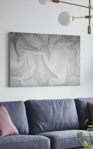 【Canvas Print】PHOTOWALL / Wrinkled Paper 2 (e24442)