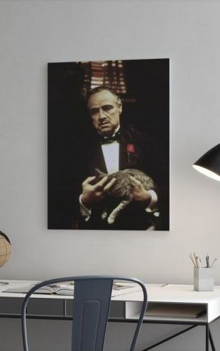 【Canvas Print】PHOTOWALL / The Godfather Carrying Cat (e25296)