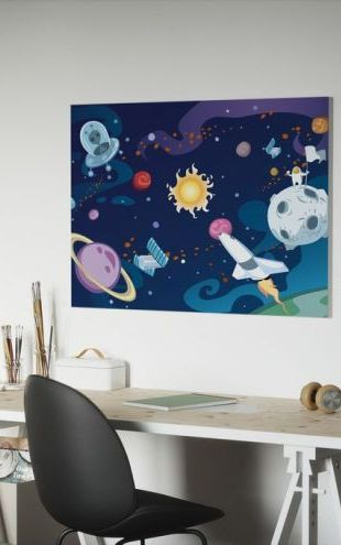 【Canvas Print】PHOTOWALL / Cartoon Galaxy (e25586)