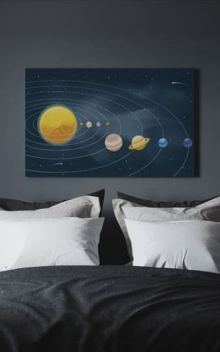 【Canvas Print】PHOTOWALL / Earths Solar System (e25587)
