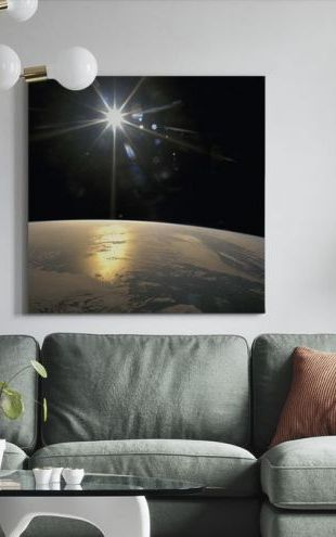 【Canvas Print】PHOTOWALL / Sunrays Falling on Earth (e25598)