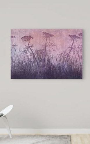 【Canvas Print】PHOTOWALL / Purple Grass Silhouette (e25733)