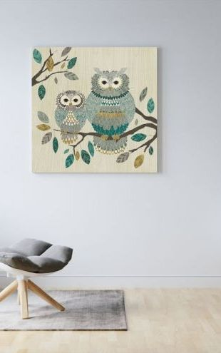 【Canvas Print】PHOTOWALL / Owl Couple (e25769)
