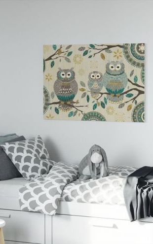 【Canvas Print】PHOTOWALL / Owl Trio (e25770)
