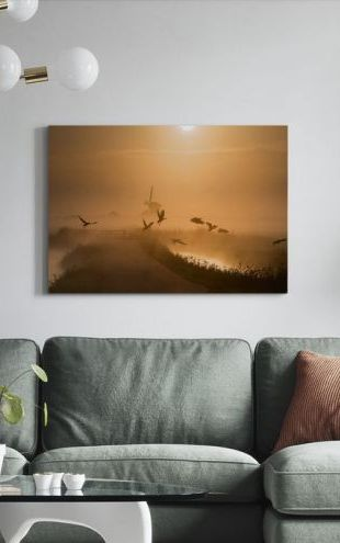 【Canvas Print】PHOTOWALL / Sunrise Flight (e29640)