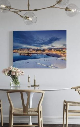【Canvas Print】PHOTOWALL / View from Oslo Opera House at Night (e29926)