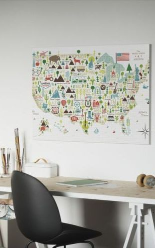 【Canvas Print】PHOTOWALL / Illustrated USA (e30136)