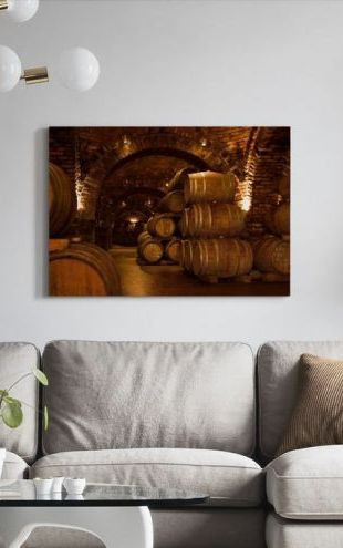 【Canvas Print】PHOTOWALL / Wine Cellar Barrels (e30228)