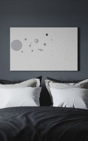 【Canvas Print】PHOTOWALL / Planets and Stars (e30232)