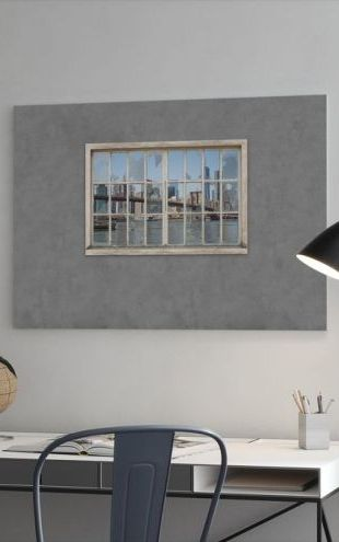 【Canvas Print】PHOTOWALL / View from Basement Windows - Brooklyn Bridge (e30235)