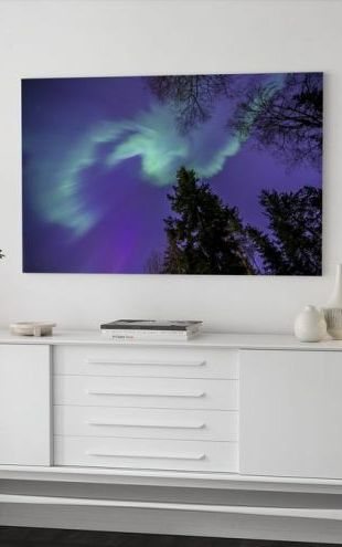 【Canvas Print】PHOTOWALL / Northern Light - Purple Sky (e40581)