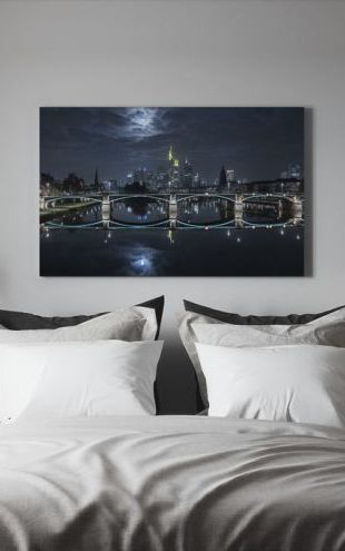 【Canvas Print】PHOTOWALL / Frankfurt at Full Moon (e30607)