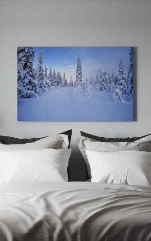 【Canvas Print】PHOTOWALL / Ski track in Dalarna, Sweden (e40987)