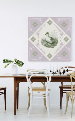 【Canvas Print】PHOTOWALL / Duck, Green Purple (e40994)