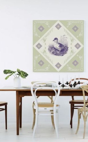 【Canvas Print】PHOTOWALL / Duck, Purple Green (e40996)