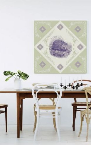 【Canvas Print】PHOTOWALL / Hedgehog 2, Purple Green (e41008)