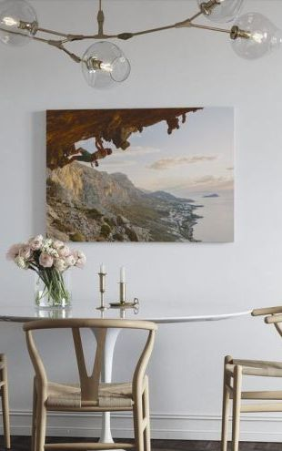 【Canvas Print】PHOTOWALL / Climbing by the Aegean Sea (e30829)