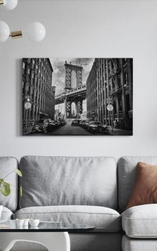 【Canvas Print】PHOTOWALL / In America, black and white (e30968)