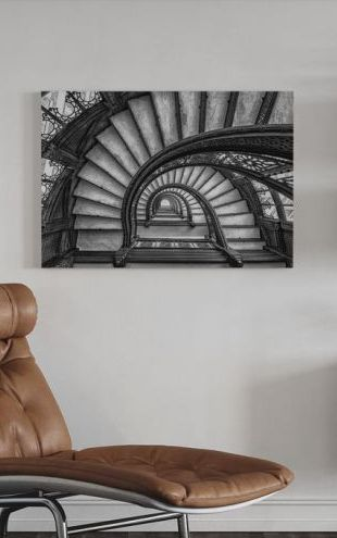 【Canvas Print】PHOTOWALL / The Rookery, black and white (e30994)