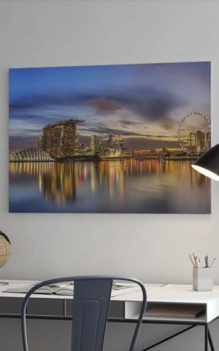 【Canvas Print】PHOTOWALL / Sunset by the Bay (e41133)