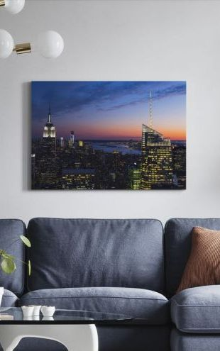 【Canvas Print】PHOTOWALL / Illuminated Manhattan (e50032)