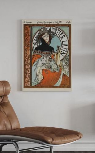 【Canvas Print】PHOTOWALL / Alphonse Mucha - Au Quarter Latin (e31028)