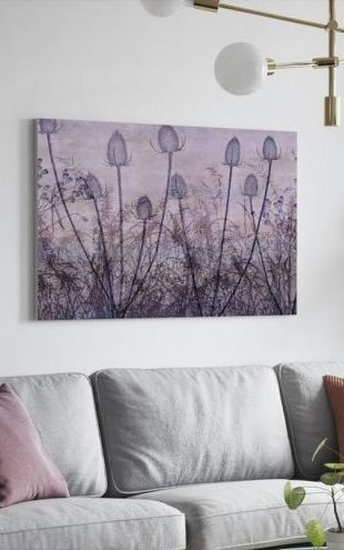 【Canvas Print】PHOTOWALL / Wildflowers Lining the Trail Purple (e50211)