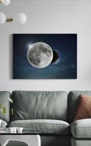 【Canvas Print】PHOTOWALL / Earth and Moon (e310775)