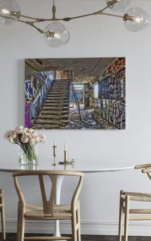 【Canvas Print】PHOTOWALL / Abandoned Building Staircase (e310796)