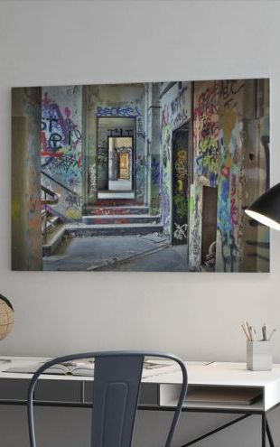 【Canvas Print】PHOTOWALL / Industrial Building Ruins (e310859)