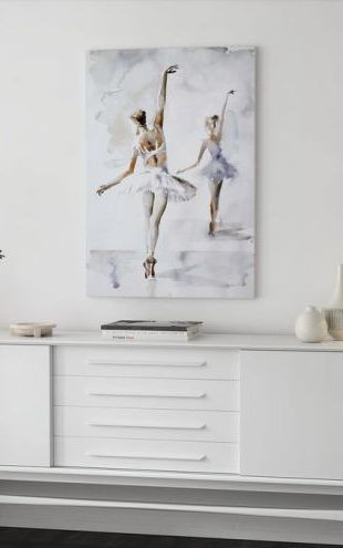 【Canvas Print】PHOTOWALL / Ballerina In Blue (e311252)
