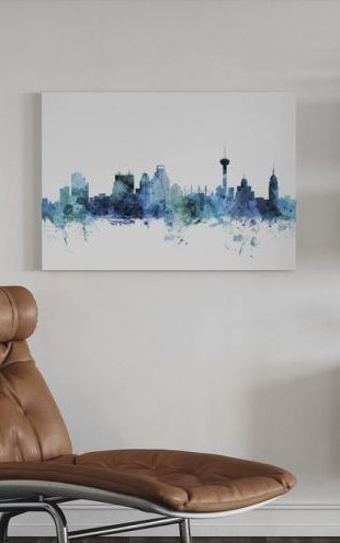【Canvas Print】PHOTOWALL / San Antonio Texas Skyline (e311680)