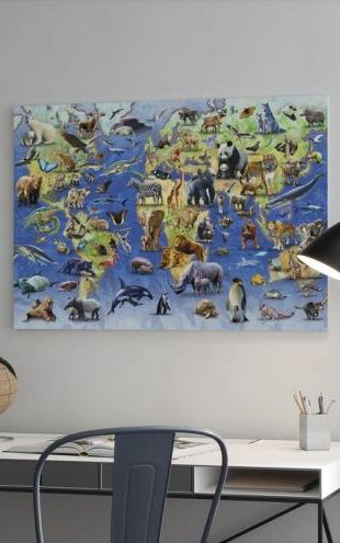 【Canvas Print】PHOTOWALL / One Hundred Endangered Species (e312168)