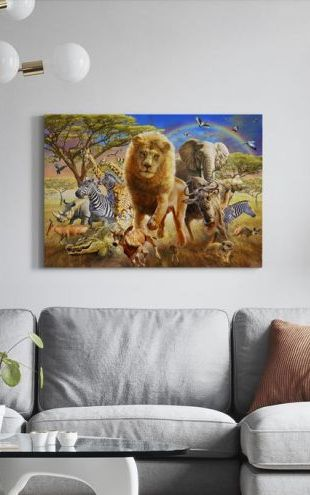 【Canvas Print】PHOTOWALL / African Stampede (e312179)