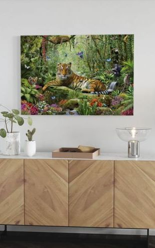 【Canvas Print】PHOTOWALL / Tiger In The Jungle (e312180)