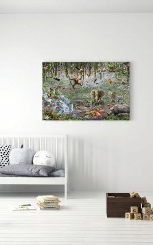 【Canvas Print】PHOTOWALL / African Mural Panorama (e312187)